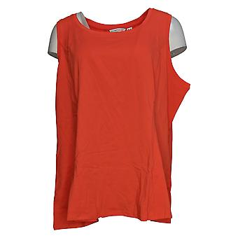 Isaac Mizrahi En direct! Femmes & s Top Reg Scoop-Neck Knit Tank Orange A353845