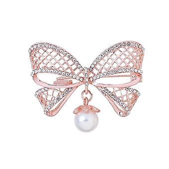 Pearl Fashion Bloem Plant Broche