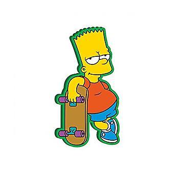 Simpsons Bart med Skateboard Soft Touch PVC Magnet