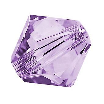 Swarovski Crystal, #5328 Bicone Pärlor 4mm, 24 Pieces, Violet