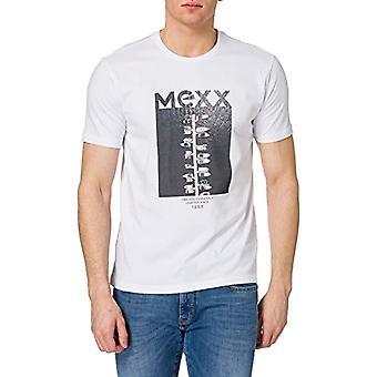 Mexx Photo Print T-Shirt Crewneck-T-Shirt with Photographic Print, White, L Man