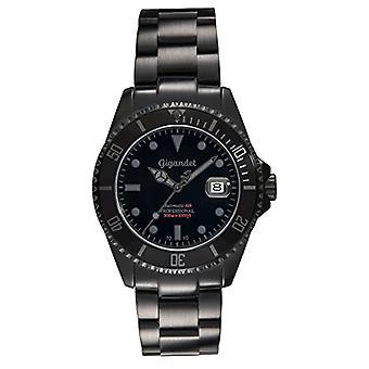 Gigandet Men's automatic watch, ideal for diving/diving, analog dial, black steel strap, model. Ref. 4045425017833