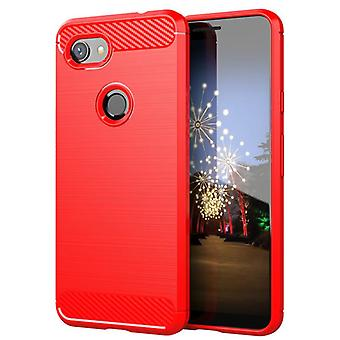 Tpu hiilikuitukotelo google pixel 3a punainen mfkj-163