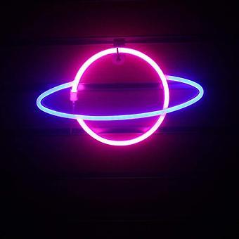 Kreative Led Zeichen Mond Planet Hochzeit Party Dekoration Neon Lampe