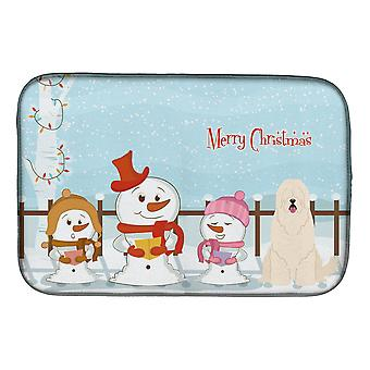Caroline's Treasures Merry Christmas Carolers Tappeto per piatti per cani da pastore della Russia meridionale, 14 x 21