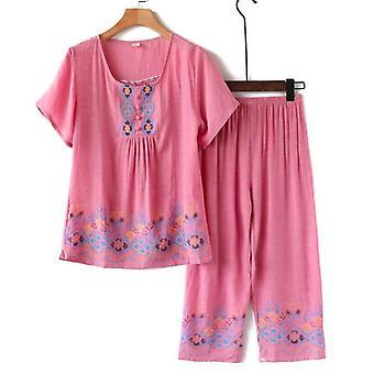 Women's Summer Designer Sleepwear Dress Top & Bottom Set