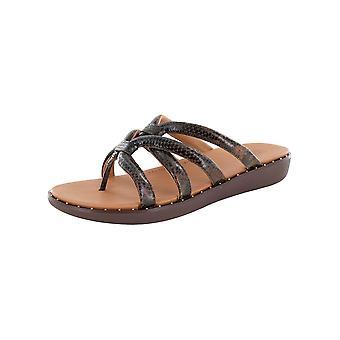 Fitflop Femmes à peine pointillé Serpent Slide Sandal Chaussures