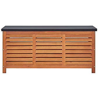 vidaXL Gartenbox 117x50x55 cm Eukalyptus Massivholz