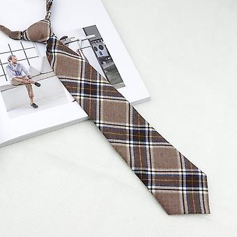 Högskola randig pläd lat slips