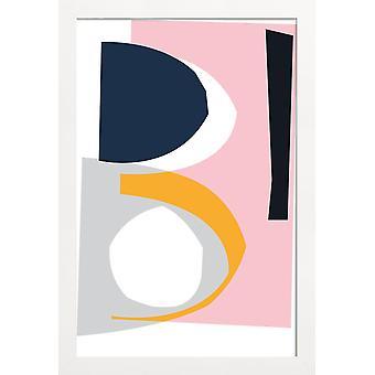 JUNIQE Print - Formulär 1 - Abstrakt & Geometrisk Affisch i Rosa & Turkos
