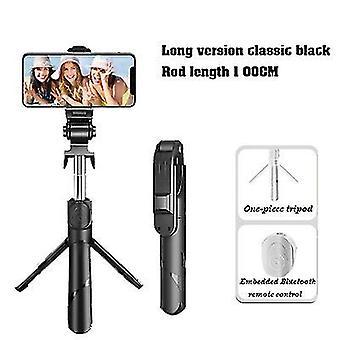 100Cm μαύρο επεκτάσιμο selfie stickwireless τηλεχειριστήριο και στάση τρίποδων x7512