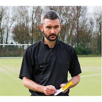 Precision Referees Shirt Met Korte Mouwen Zwart/Wit 50-52inch
