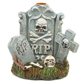 Halloween RIP Tombstone Backflow Incense Burner