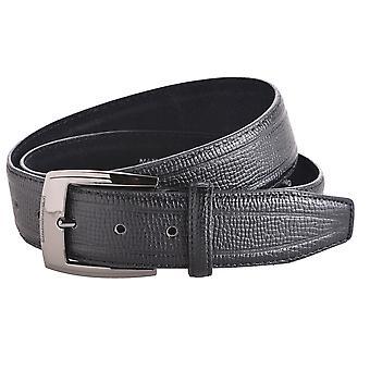 Men's 40mm Lizard Grained Leather Belt