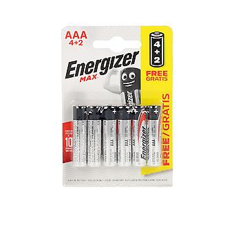 Energizant Energizant Max Power Lr03 Aaa Pilas Pack X 6 Uds Unisex