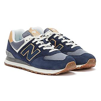 New Balance 574 Herren Blau / Tan Sneaker