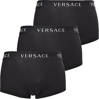 Versace 3-Pack Classic Logo Matalat Bokserit, Musta