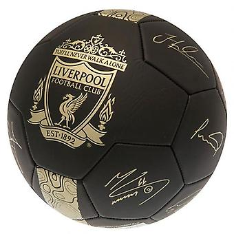 Liverpool Gold Phantom Signature Football