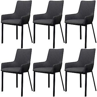 vidaXL dining chairs 6 pcs. dark grey fabric