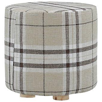 vidaXL Stool Block Fabric Round