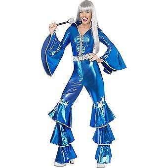 41159M Damen 70er Tanz-Traum Kostüm, Schnür-Jumpsuit, Größe: M, 41159