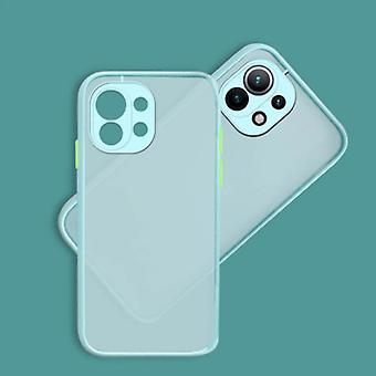 Balsam Xiaomi Mi 10 Case with Frame Bumper - Case Cover Silicone TPU Anti-Shock Light Blue