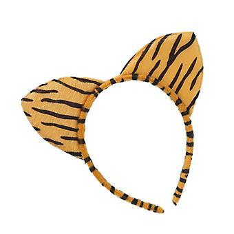10PCS New Fashion Women Cloth Short Plush Tiger Leopard Cat Ear Headband Hair Band Cosplay Party