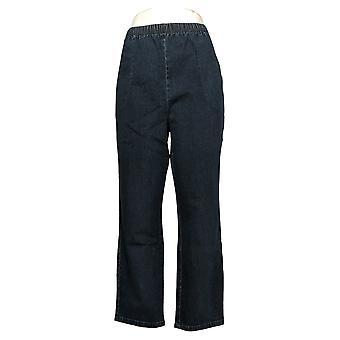 デニム&カンパニー 女性用 小柄パンツ ウエスト ストレッチ サイド ポケット ブルー A375348