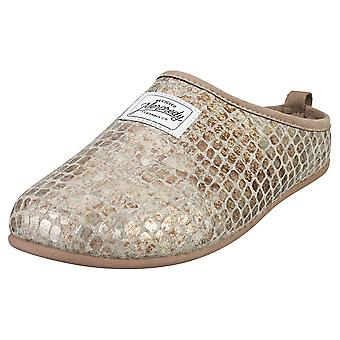 Mercredy Slipper Coco Taupe Womens Slippers Shoes in Taupe