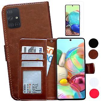 Samsung Galaxy A71 - Ledertasche / Schutz