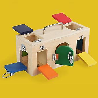 Børn Sjove Dyr Matching Game Lock Box Legetøj Uddannelse Førskole Pædagogisk Legetøj Kid Gift|