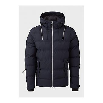 883 Police Aten Quilted Navy Hooded Jacket