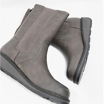 Heavenly Feet Trina Ladies Ankle Boots Grey