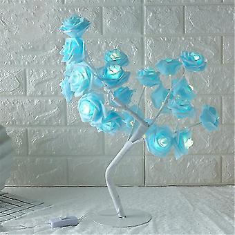 Lampada da tavolo a forma di rosa fiore albero rosa luce decorativa per soggiorno camera da letto dfds889(3)