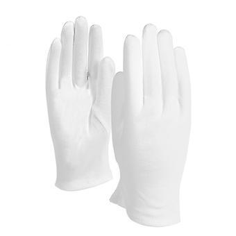 Witte katoenen handschoenen voor kunst handling sieraden zilveren inspectie 12 paar