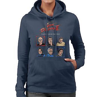 Geek Dilemma II Choose Your Captain Women's Hooded Sweatshirt