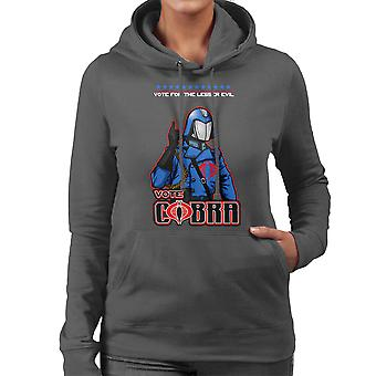 GI Joe omröstning Cobra Commander mindre onda Women's Hooded Sweatshirt