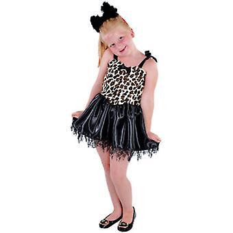 Kinderen kostuums meisjes kleine Kitty Luipaard fancy dress kind
