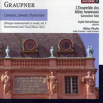 C. Graupner - Graupner: Instrumental and Vocal Music, Vol. 2: Cantate, Sonate, Ouverture [CD] USA import