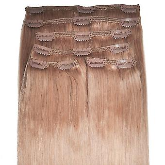 #14 rotblond - Clip-in Hair Extensions - vollen Kopf