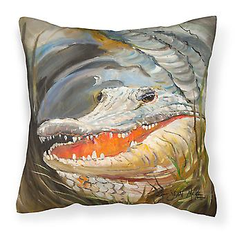 Carolines skatter JMK1208PW1414 Alligator lerret stoff Dekorative Pillow