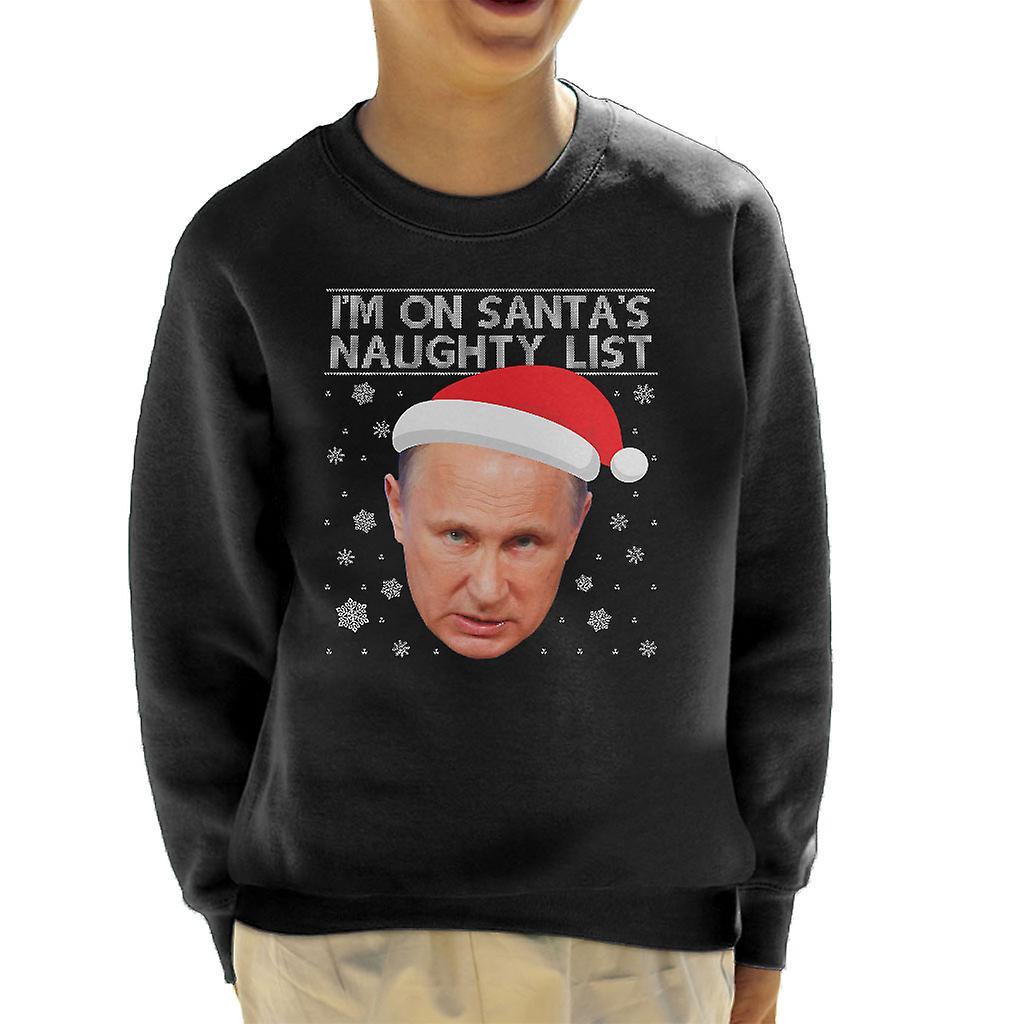 Christmas Vladimir Putin Naughty List Kid S Sweatshirt Fruugo Uk