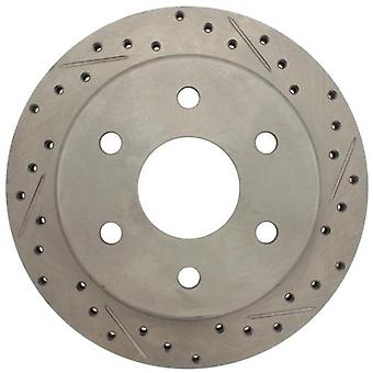 StopTech 227.66041L Select Sport Drilled and Slotted Brake Rotor; Rear Left