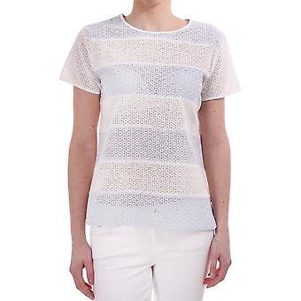 Paul Smith Broidery Anglaise Wide Striped Ss Cn Top