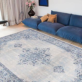Dywany - Khayma Fairfield - 8670 niebieskie obramowanie