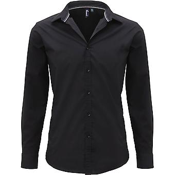 Premier Mens fredag Långärmad Polycotton Smart Casual Business skjorta