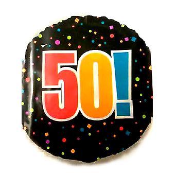 Joyeux 50e anniversaire feuille ballon