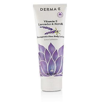 Derma E Vitamin E Lavender & Neroli terapeutiska Shea Body Lotion - 227g / 8oz