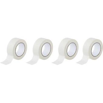 TOOLCRAFT 93038c191 Masking tape White (L x W) 50 m x 50 mm 4 Rolls
