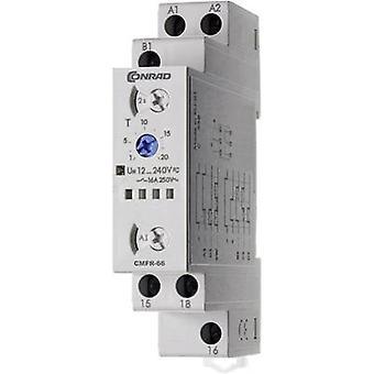 Conrad componenti 506666 multifunzione Relè ad azione ritardata, Timer, 1 CO, SPDT-CO, 12-240Vdc/ac IP20